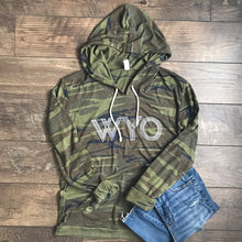 Ladies Wyoming Camo Long Sleeve Pullover Hoodie