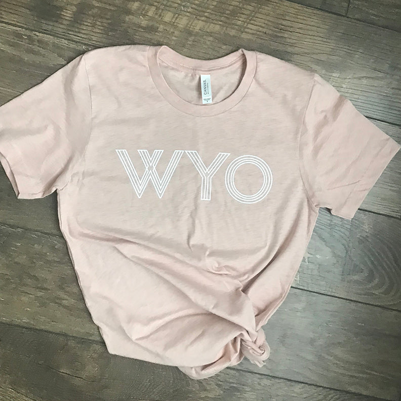 WYO Heather Peach Tee
