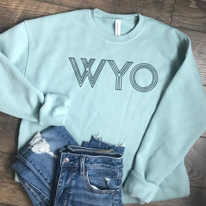 WYO Dusty Blue Crewneck Sweatshirt