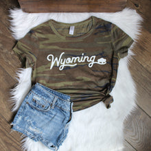 Ladies Wyoming Camo Tee