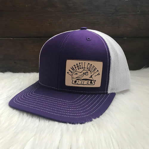 Campbell County High School Camels Purple Snapback Trucker Hat