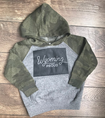 Camo Wyoming Proud Toddler Hooded Sweatshirt