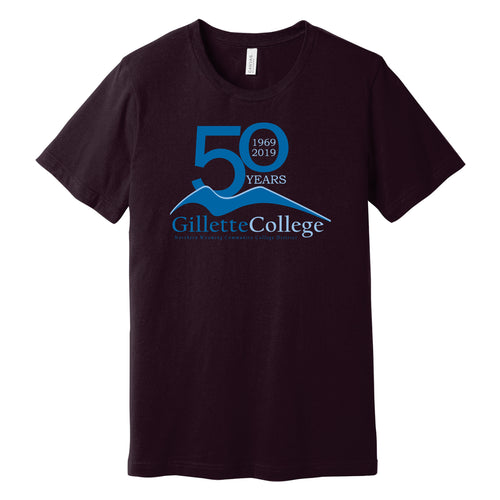 Gillette College 50 Years Bella+Canvas Black T-shirt