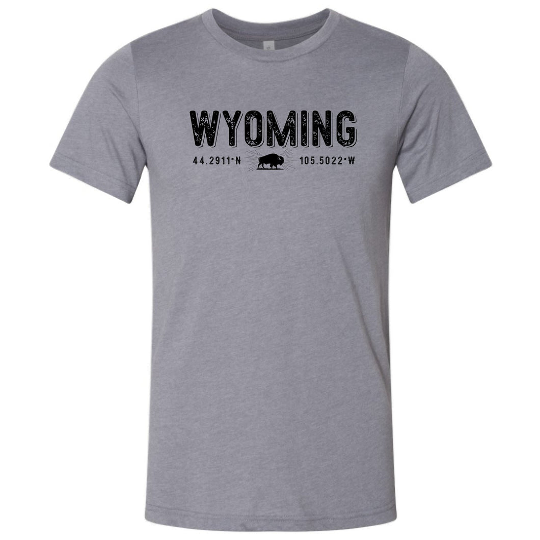 Gillette Wyoming Coordinates - Storm T-shirt