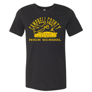 Campbell County High School Camels – Black Unisex Jersey Tee