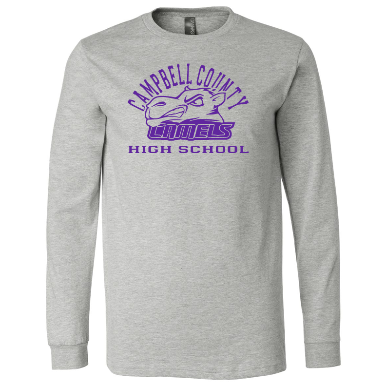 Campbell County High School Camels – Grey Unisex Jersey Long Sleeve Tee