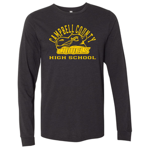 Campbell County High School Camels – Black Unisex Jersey Long Sleeve Tee