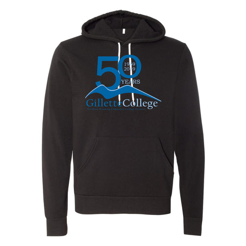Gillette College 50 Years Bella+Canvas Unisex Sponge Fleece Pullover Hoodie