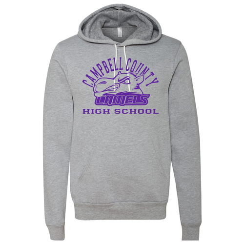 Campbell County High School Camels - Bella+Canvas Unisex Grey Fleece Pullover Hoodie