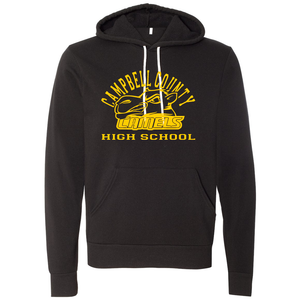 Campbell County High School Camels - Bella+Canvas Unisex Fleece Pullover Hoodie