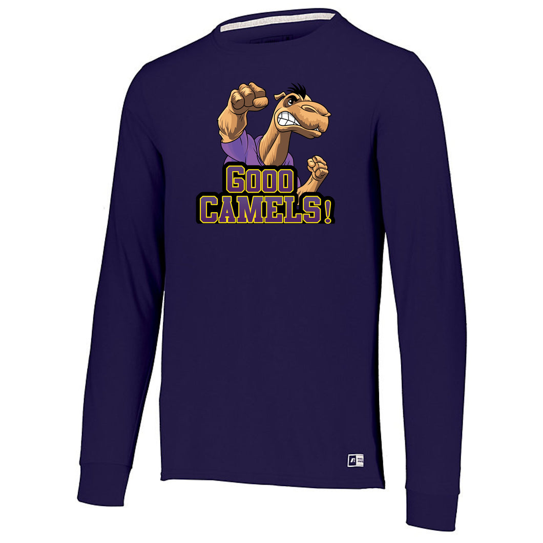 GOOO CAMELS! RUSSELL ESSENTIAL LONG SLEEVE TEE