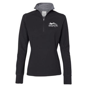 Gillette College Nursing Program - J. America - Omega Stretch Terry Women's Quarter-Zip Pullover