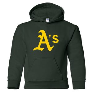 A's Baseball - Youth Hooded Sweatshirt