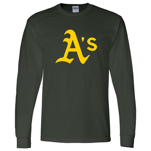 A's Baseball - Adult Long Sleeve Shirt