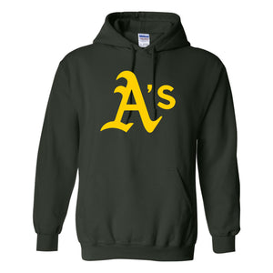 A's Baseball - Adult Hooded Sweatshirt