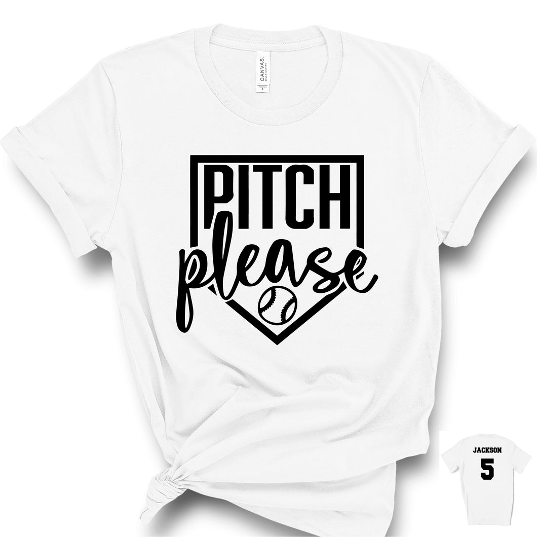 Pitch Please Baseball T-Shirt