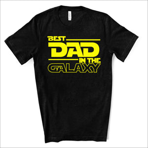 Best Dad in the Galaxy - Star Wars Dad Life Black T-shirt