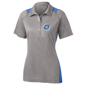 Thunder Basin Bolts Tennis Sport-Tek® Heather Colorblock Contender Ladies Polo