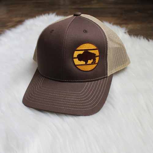Buffalo Snapback – Brown / Gold