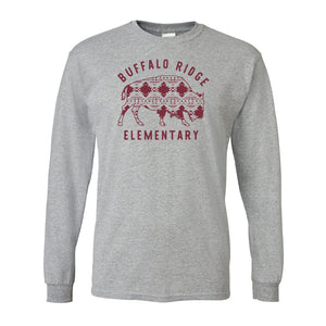 Aztec Buffalo Ridge Bison - Adult Long Sleeve Shirt