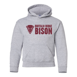 Buffalo Ridge Bison - Youth Hooded Sweatshirt