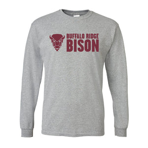 Buffalo Ridge Bison - Adult Long Sleeve Shirt