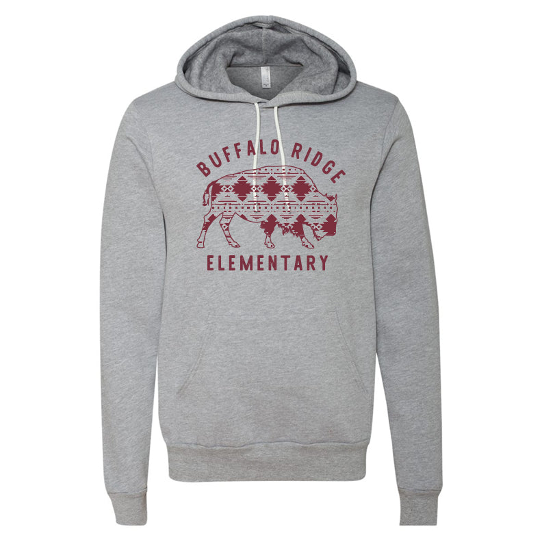 Aztec Buffalo Ridge Bison - Bella+Canvas  Hooded Sweatshirt