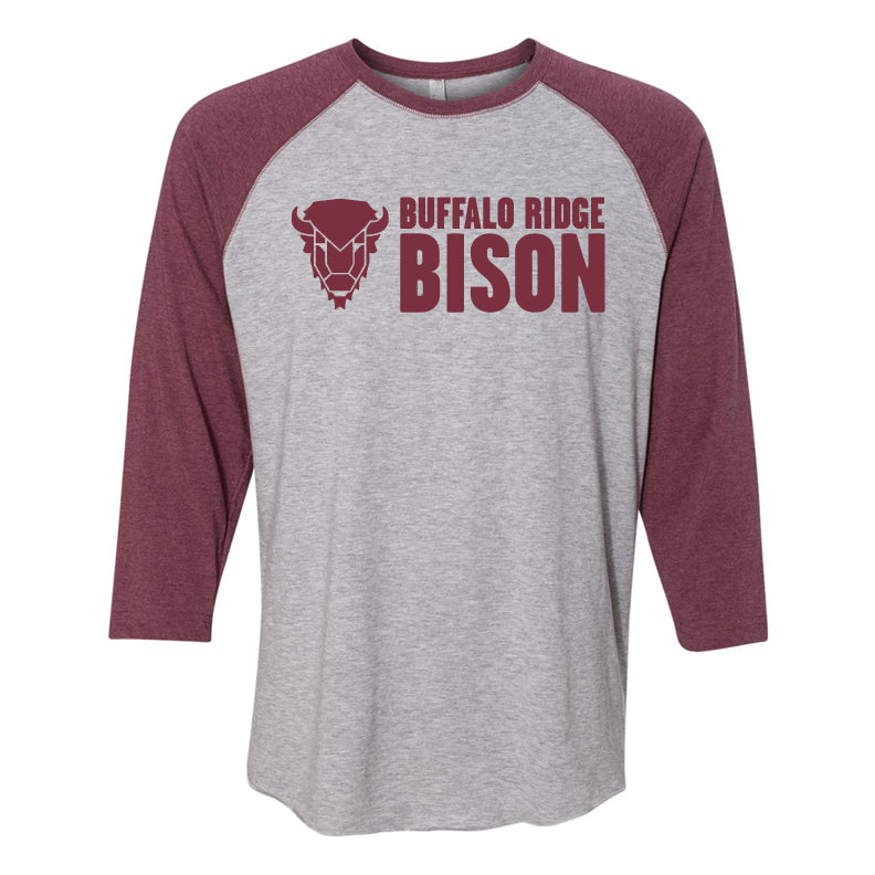 Buffalo Ridge Bison - Adult Three-Quarter Sleeve T-Shirt