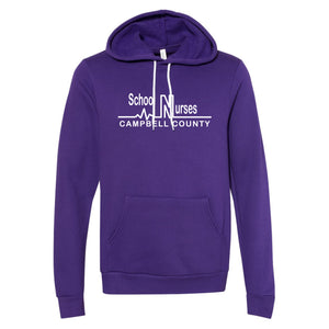 Campbell County School Nurses - Bella+Canvas Purple Hooded Sweatshirt