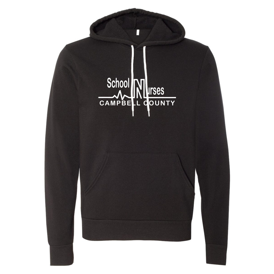 Campbell County School Nurses - Bella+Canvas Black Hooded Sweatshirt