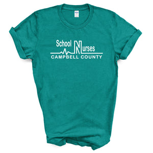 Campbell County School Nurses - Adult Jade Dome T-Shirt