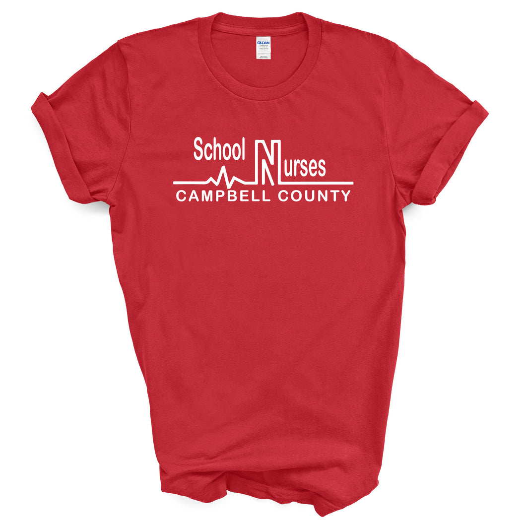 Campbell County School Nurses - Adult Red T-Shirt
