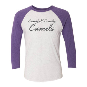 Campbell County High School Camels Vintage Baseball Raglan Tee