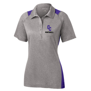 Campbell County Camels – Sport-Tek® Heather Colorblock Contender™ Ladies Polo