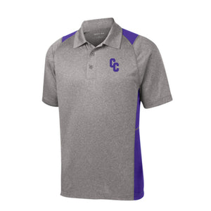 Campbell County Camels – Sport-Tek® Heather Colorblock Contender™ Polo