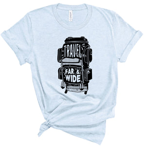 Travel Far & Wide Heather Ice Blue T-shirt
