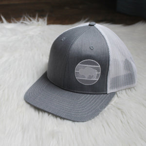 Buffalo Snapback – Heather Gray / White