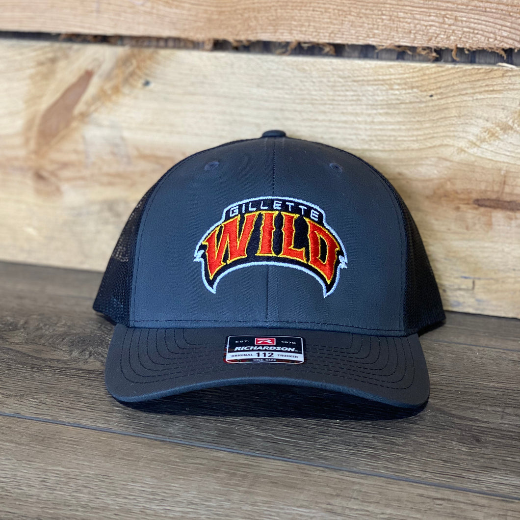 Gillette Wild Hockey Charcoal Snapback Trucker Cap