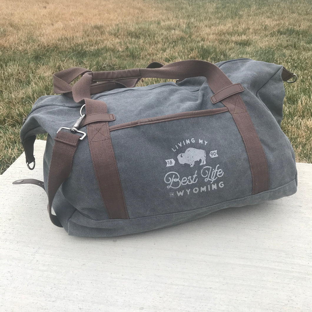 Living My Best Life in Wyoming Weekender Bag