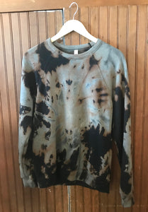 Bleach Dyed Crewneck Sweatshirt