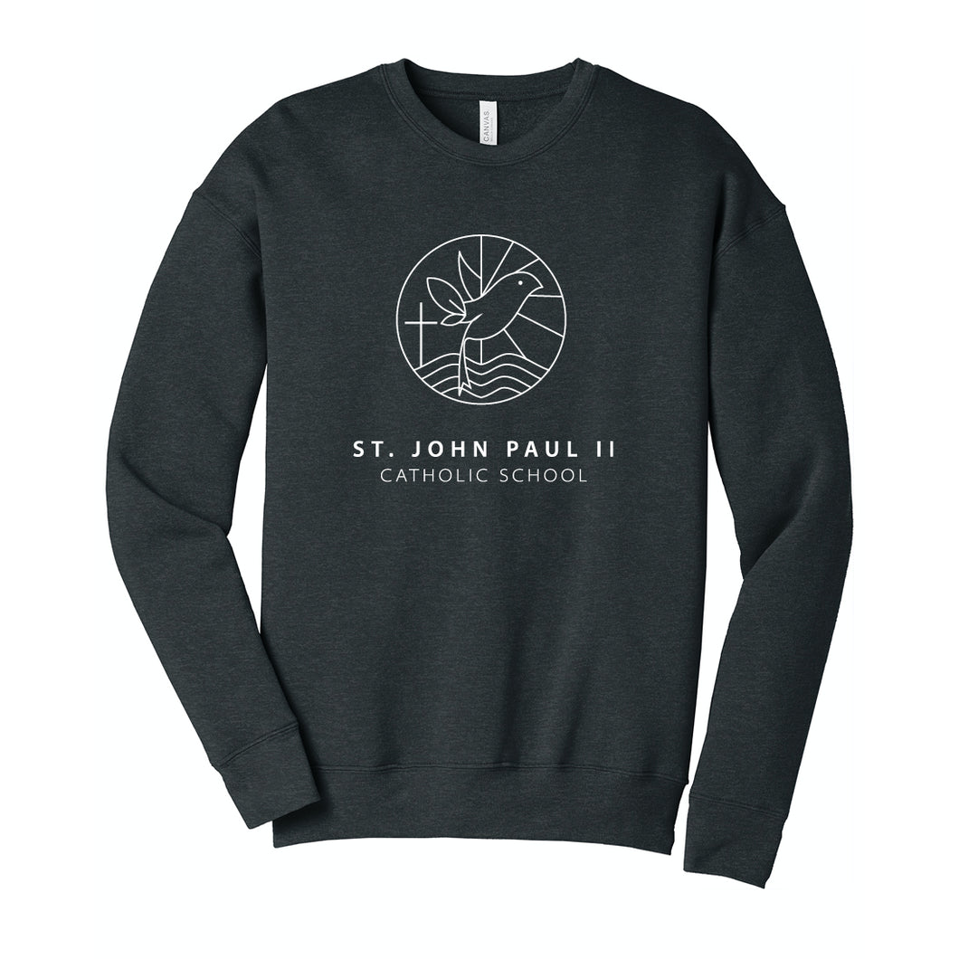 St. John Paul II Catholic School BELLA + CANVAS - Unisex Sponge Fleece Drop Shoulder Crewneck Sweatshirt