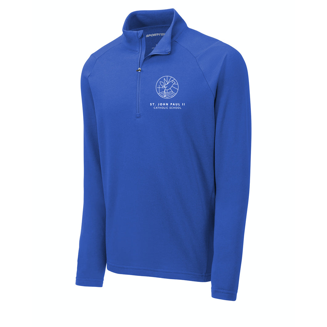 St. John Paul II Catholic School Lightweight French Terry 1/4-Zip Royal Pullover