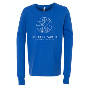 St. John Paul II Catholic School BELLA + CANVAS - Youth Jersey Long Sleeve Tee