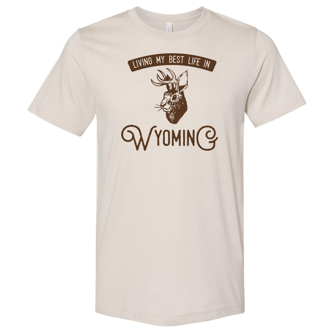 Living My Best Life in Wyoming Jackalope T-shirt