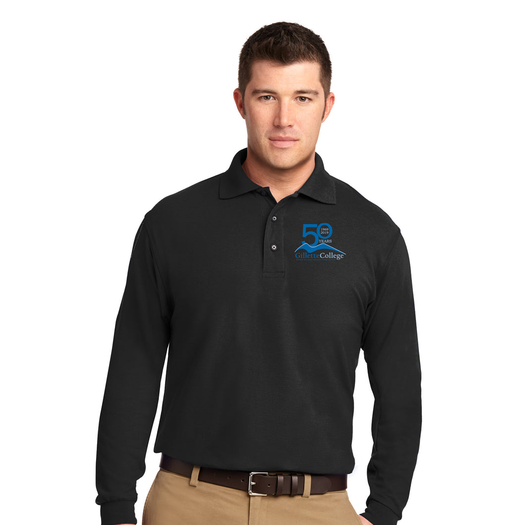 Gillette College 50 Years Men Long Sleeve Polo