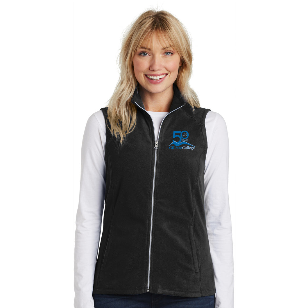 Gillette College 50 Years Ladies Fleece Vest