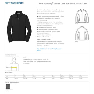 Ladies Core Soft Shell Jacket – First National Bank