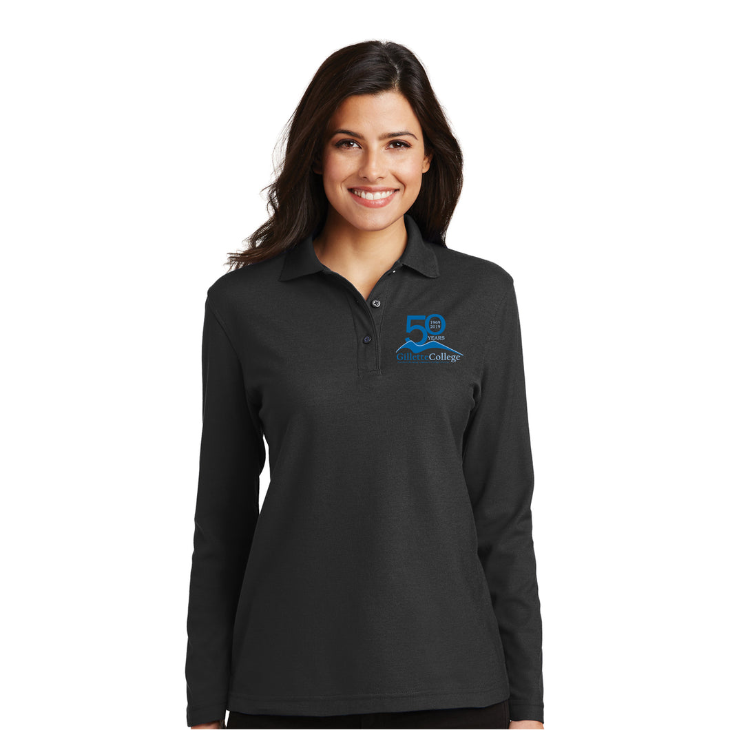 Gillette College 50 Years Ladies Long Sleeve Polo