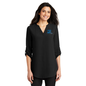 Gillette College 50 Years Ladies 3/4-Sleeve Tunic Blouse