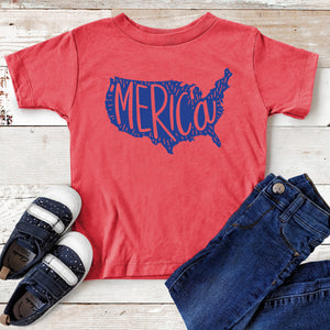 Merica Graphic Toddler T-shirt